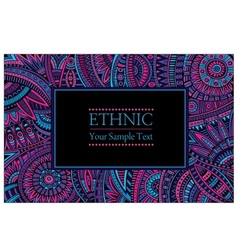 Abstract ethnic patterns border vector
