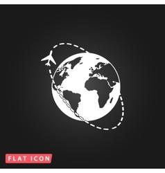 Air travel destination icon vector image