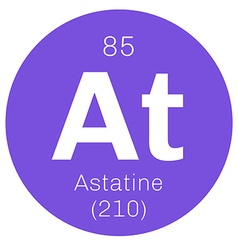 Astatine chemical element vector