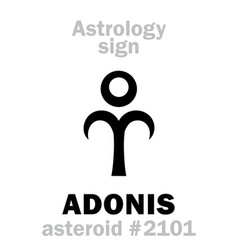 Astrology asteroid adonis vector