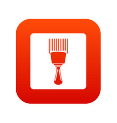 bar code scanner icon digital red vector image