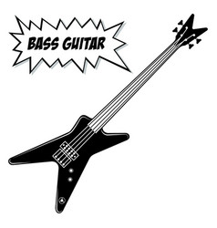 Bass guitar 4 strings vector