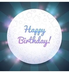 Beautiful Birthday card template vector