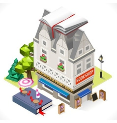 Book Shop City Building 3D Isometric vector