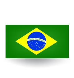 Brazilian Flag vector image