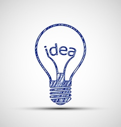 Bulb with the word idea vector image