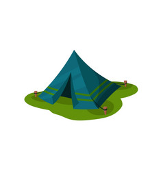 camping tent outdoot raveling element vector image