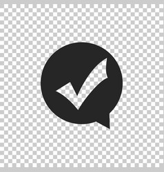 check mark in circle icon isolated vector image