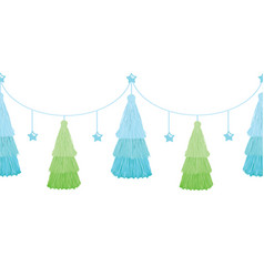 Christmas tree blue green layered vector