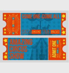 Circus tickets vintage vector