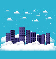 cityscape in the sky vector image