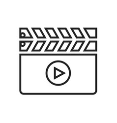 Clapper board linear icon vector