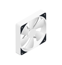 Computer fan isometric detailed icon vector