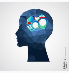 Creative concept of the human head vector