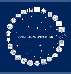 Creative search engine optimization icon vector