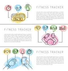 Electronics gadget fitness vector