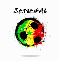 flag of senegal as an abstract soccer ball vector image