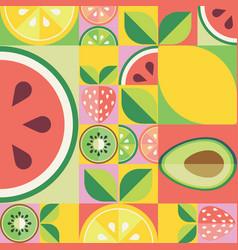 Flat fruit pattern vector