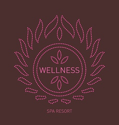 Floral logo template for wellness salon Spa center vector image