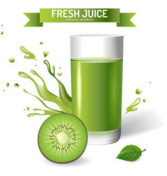 Fresh juice background vector image