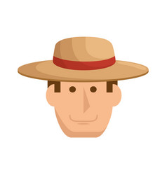 gardener man icon vector image