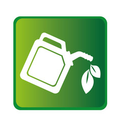 Green gallon isolated icon vector