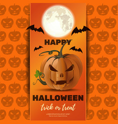 halloween poster design with jack o lantern vector image