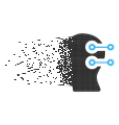 Head connectors moving pixel icon vector