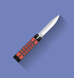 Icon of butterfly knife or balisong Flat style vector
