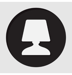 Information icon - bedside table lamp vector