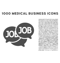 Labor Market Icon with 1000 Medical Business vector