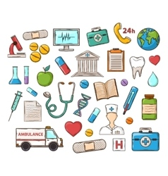 Medical doddle set vector image
