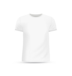 Mens white t-shirt design template vector