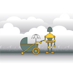 mother robot vector image