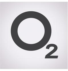 Oxygen o2 icon vector