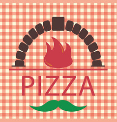 Pizza in the camp logo vector