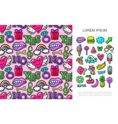 pop art fashion patches concept vector image