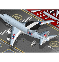 Radar Plane Landed in Rear View vector image