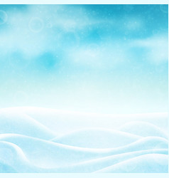 realistic winter background vector image