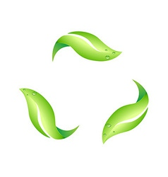 Recycling leaf symbol vector
