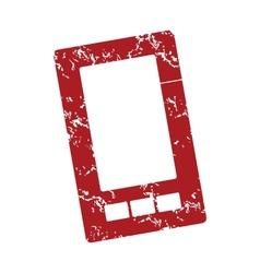 Red grunge smartphone logo vector