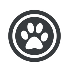 Round black paw sign vector image