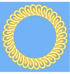 Round golden retro frame vector