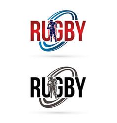 Rugfont design logo sport graphic vector