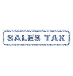 sales tax textile stamp vector image