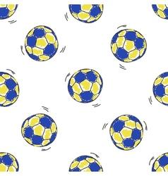 Seamless pattern with handball balls vector
