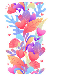 seamless pattern with romantic flowers vector image