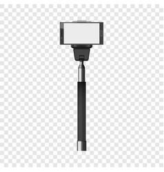 selfie stick mockup realistic style vector image