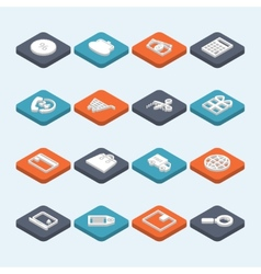 Shopping Icons Isometric vector image
