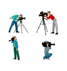 Six videographers set vector